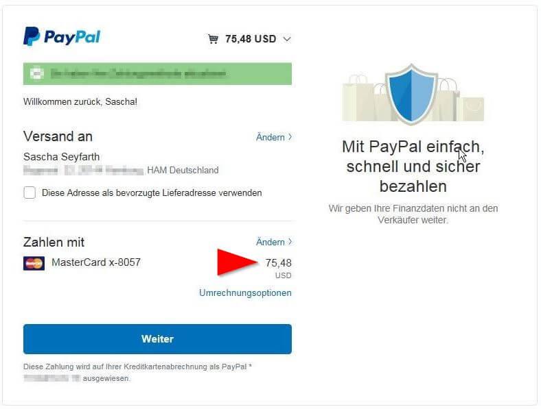 paypal ohne gebühren