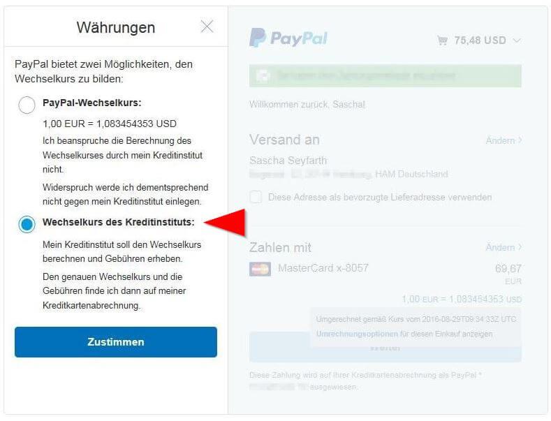 Mijloacele de creditare de la Kreditinsitutes sunt acoperite de Paypal Gebühren mehr