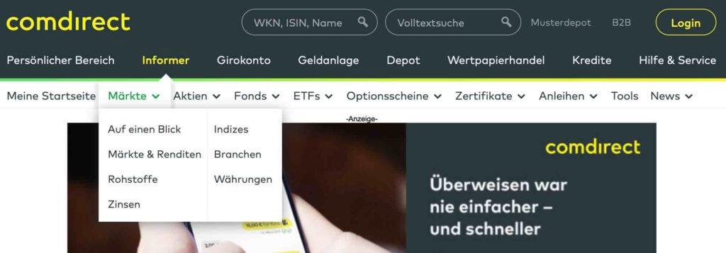 Comdirect Bank Informer
